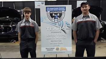 Auto Tech Students Place 5th at Auto Show