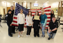 Students with American Flag