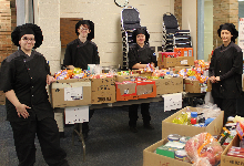 culinary students collect donations