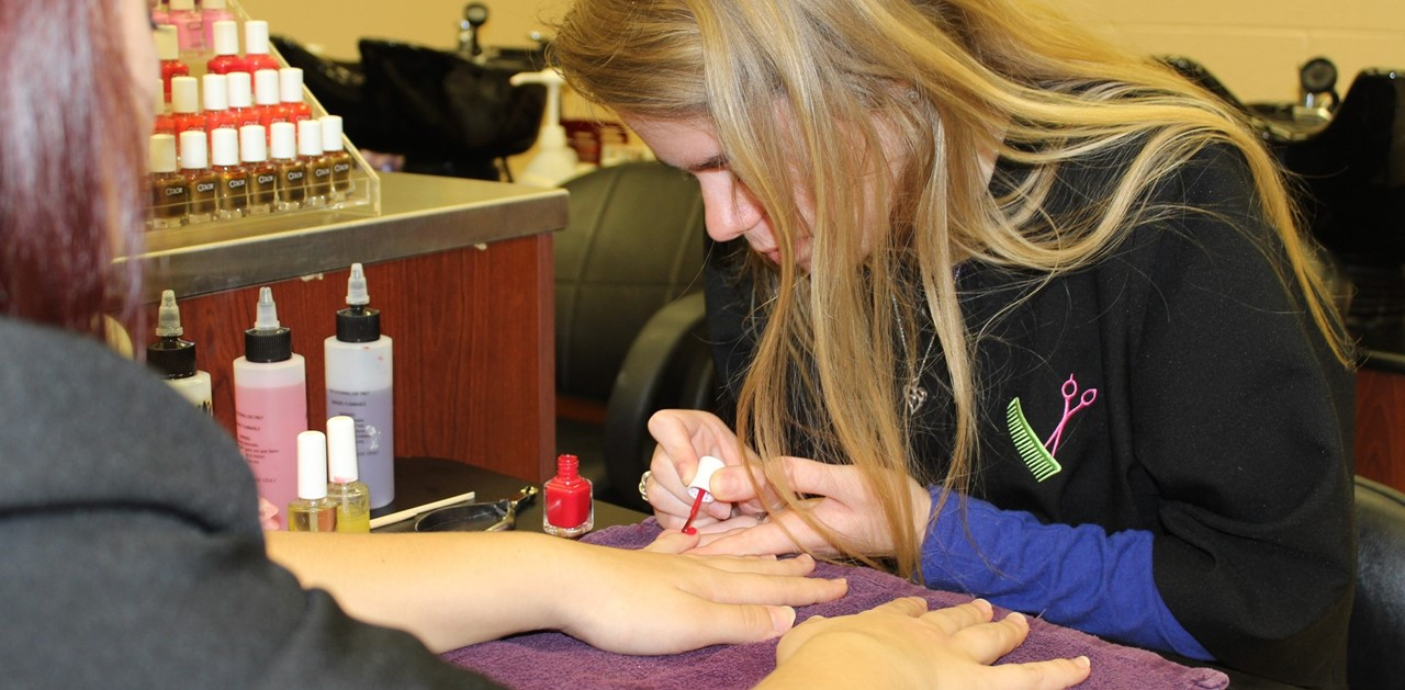 Students Working on Nails