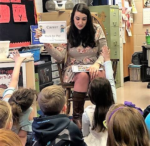 1st grade students learning about careers