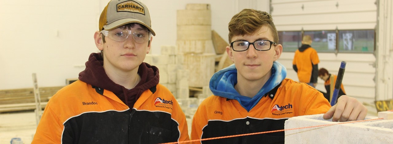 Masonry students